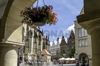 Blick zum Lambertikirchplatz, Münster, NRW
