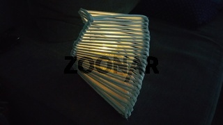 Selbst gebastelte Lampe aus Papier