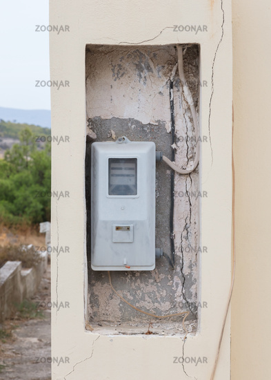 Old electricity meter, Greece