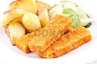 Fish fingers with potato