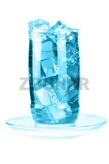 Glass of iced mineral water