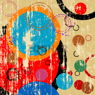 Grunge retro circles