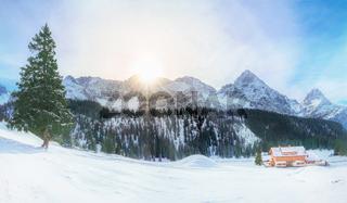 Austrian Alps in winter
