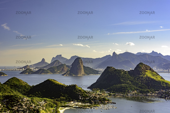View from above of Rio de Janeiro from Niteroi