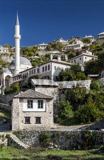 pocitelj village traditional old architecture buildings in Bosnia Herzegovina