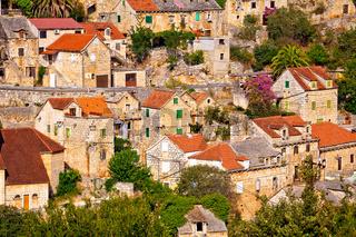 Dtone vilage Lozisca on Brac island view