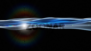 Futuristic technology panorama wave background design with lights