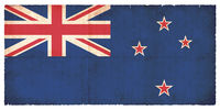 Grunge flag of New Zealand