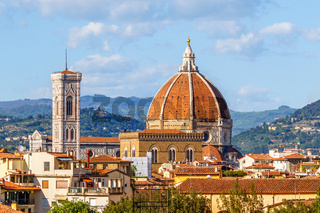 View of Cattedrale di Santa Maria del Fiore in Florence, Italy