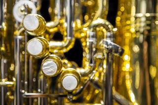 Tuba, Pumpventile, Detailaufnahme