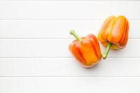 Double color bell pepper.