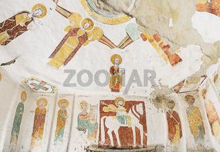 Freskos in der Felsenkirche Daniel Qorqor, Gheralta Region, Tigray, Äthiopien