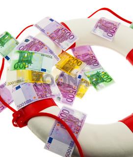 Rettungsring und Euro.