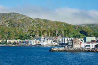 Blick auf die Stadt Hammerfest in Norwegen