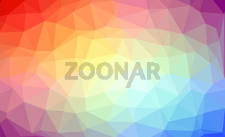 Abstract rainbow colorful lowploly of many triangles background for use in design. EPS10 vector