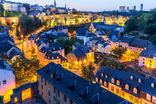 Luxembourg City night