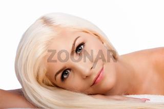 Aesthetics beauty facial skincare concept woman face