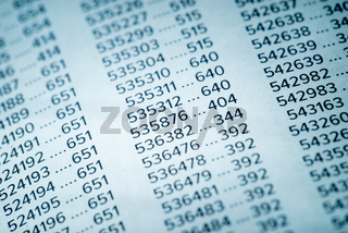 Financial Data Concept with Numbers
