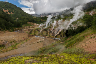 Famous Valley of Geysers.