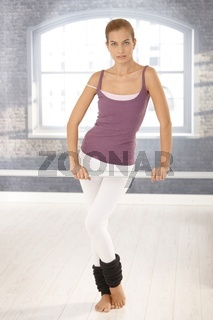 Ballet girl at class