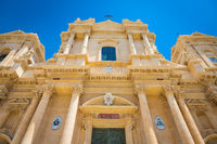NOTO, ITALY - San Nicolò Cathedral, UNESCO Heritage Site