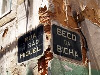 Street sign, Historic district Alfama, Lisboa