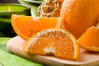 Orange Dessert on cutting board