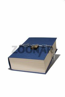 Blaues gesichertes Buch
