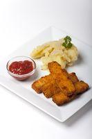 Fischstäbchen mit Kartoffelsalat
