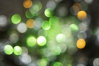 Sparkling Green Lights Background, Party Or Christmas Texture