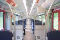 Long train interior