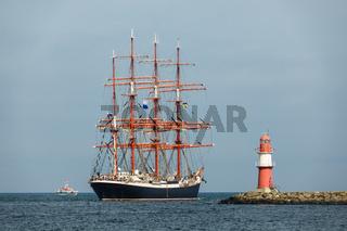 Segelschiff auf der Ostsee während der Hanse Sail