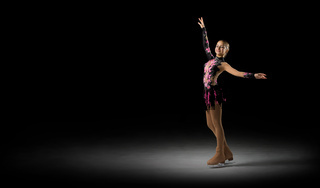 Young girl figure skater (half-isolated version)