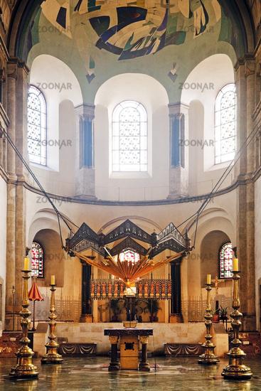 St. Aposteln, Romanesque Church, Cologne, Rhineland, North Rhine-Westphalia, Germany, Europe