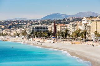 France Nice Mediterranean beach