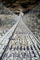 Hängebrücke, Nepal