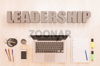 Leadership text concept