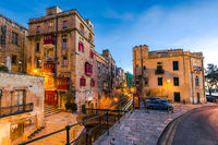 Beautiful residential area in Valletta,Malta