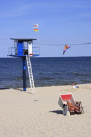 baywatch tower of former East Germany, Baltic Sea