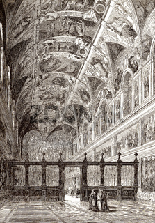 The Sistine Chapel, Apostolic Palace, Vatican City, 19th century