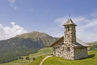 Mountain chapel in Val Gardena