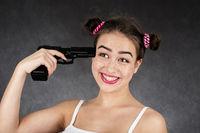 teenager shooting herself