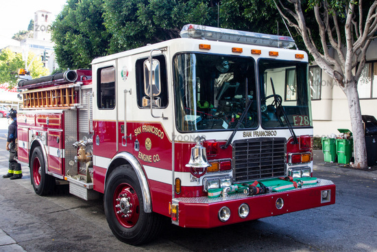 Fire Engine in San Francisco