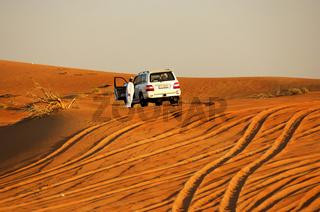 Wüstenparkplatz