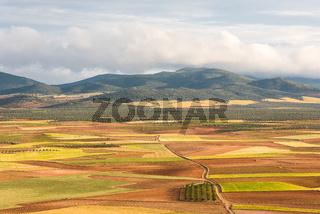 Rural farming landscape in Castila La Mancha,Spain