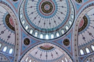 blauer Himmel in der Moschee
