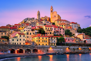 Cervo on mediterranean coast of Liguria, Italy
