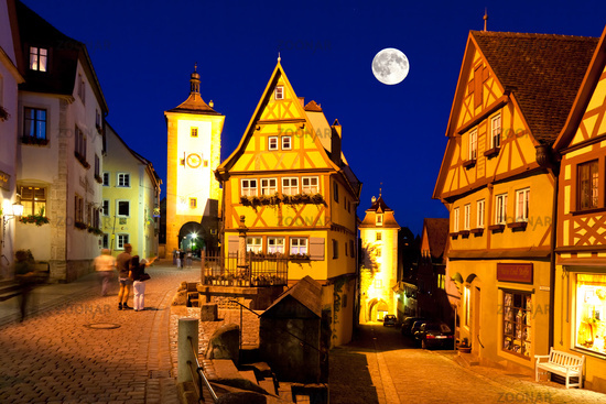 Medieval town Rothenburg ob der Tauber in Bavaria