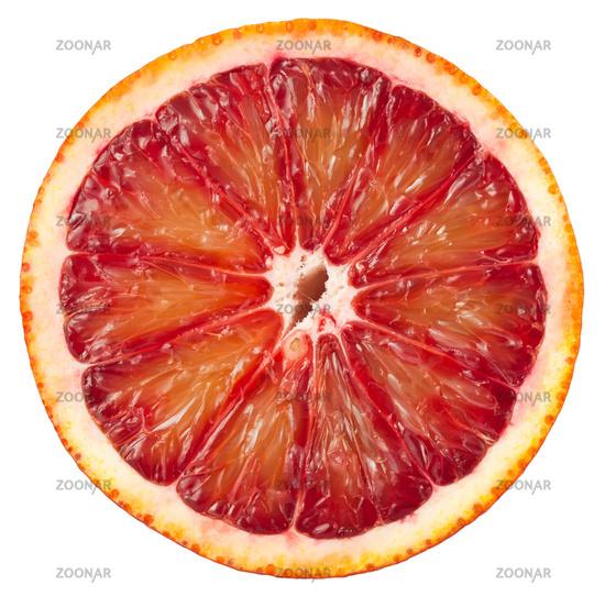 Blood red orange slice
