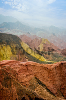 Rainbow mountains, Zhangye Danxia geopark, China